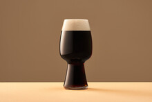Glass Of Fresh Stout Beer