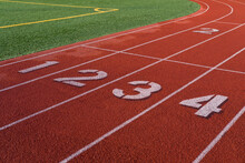 Track And Field Race Track Wit...