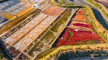 Aerial View Of Guerande Salt Marshes