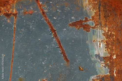 Foto Abstract old grunge texture shows rust on gray metal paint of wall, vintage background