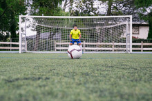 Goalkeeper Waiting To Be Knocked On The Door