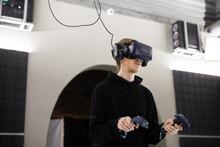 Man Enjoying Vr Gaming In An I...