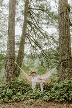 Lovers Swing In A Hammock