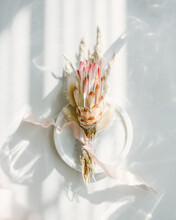 Dried Pink Protea Floral Bouqu...