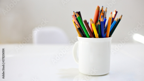 Photo pencils in a cup