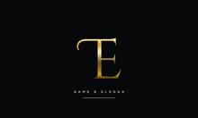 TE,ET ,T,E  Abstract Letters Logo Monogram