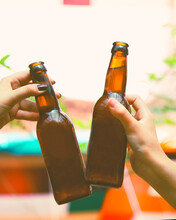 Beer Bottles. Two Friends Coll...