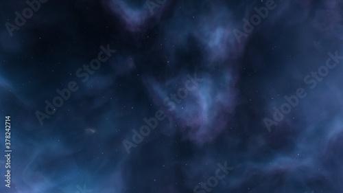 Fotografie, Obraz alien planet in space, science fiction landscape, 3d render