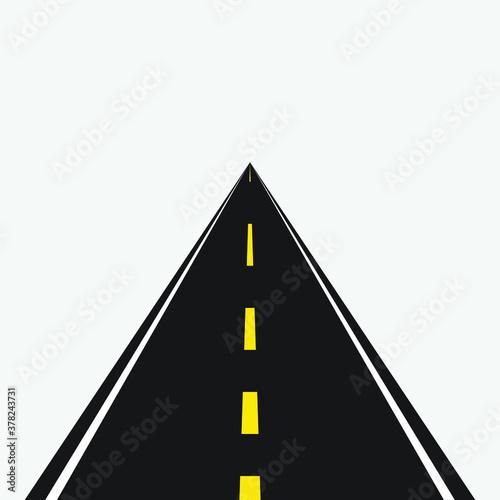 Fototapety, obrazy: Vector highway path long street asphalt