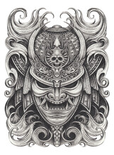 Samurai Warrior Tattoo Design....
