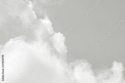 Close up of fluffy clouds