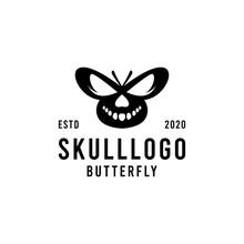 Skull Butterfly Illustration L...