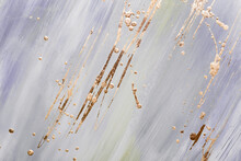 Abstract Gold Potal Brush Stro...