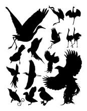 Silhouette Birds Vector
