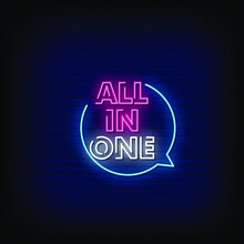 All In One Neon Signs Style Te...