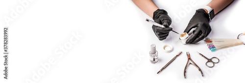 Foto sterilized instruments on a white background