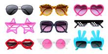 Realistic Sunglasses Set