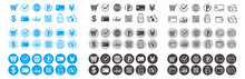 Cashless And Money Vector Icons Set