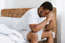 Depressed African Guy Having I...
