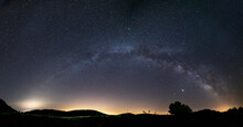 Panoramic Of A Complete Milky ...