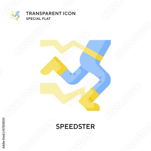 Fotografia, Obraz Speedster vector icon. Flat style illustration. EPS 10 vector.