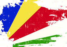 Seychelles Scratched Flag. A G...
