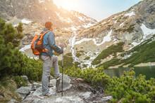 Man Hiker, Hiking Backpacker T...