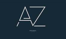 Alphabet Letter Icon Logo AZ