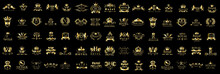 Royal Logo Set - Isolated On B...