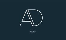 Alphabet Letter Icon Logo AD
