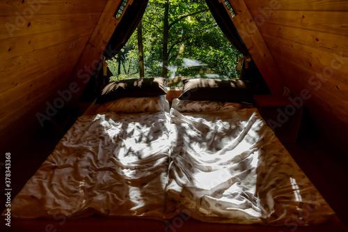 Fototapeta lamp in living room, digital photo picture as a background , taken in bled lake area, slovenia, europe obraz