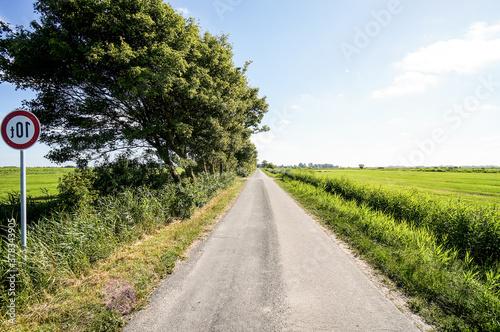 Fototapeta road in the field, in Norway Scandinavia North Europe obraz