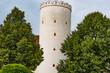 canvas print picture - Turm im Park von Stift Melk