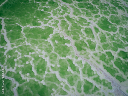 Aerial view of beautiful salty lake Canvas