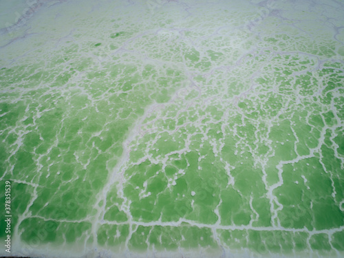 Foto Aerial view of beautiful salty lake