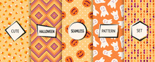 Halloween Seamless Patterns Co...