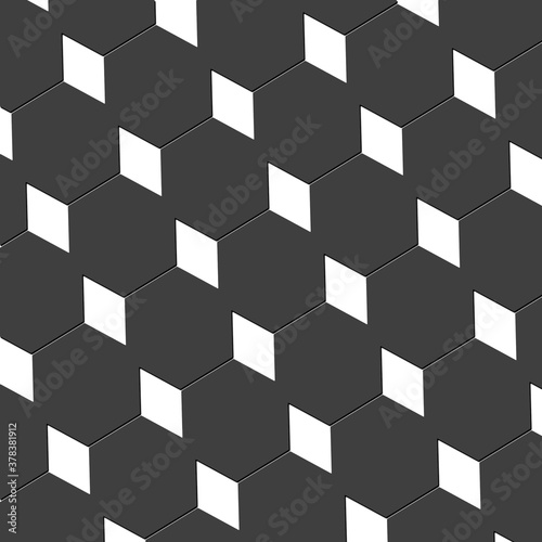 Photo Mesmeric diamond and hexagon abstract cubist art design wallpaper texture in pal