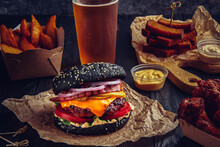 Beef Black Burger With Melted ...