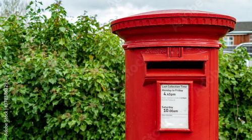 A red British post box Canvas Print