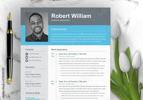 Minimal Resume, Cover Letter, and Reference Page Set