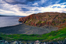 Cliffs And Rocky Beach Of Barents Sea