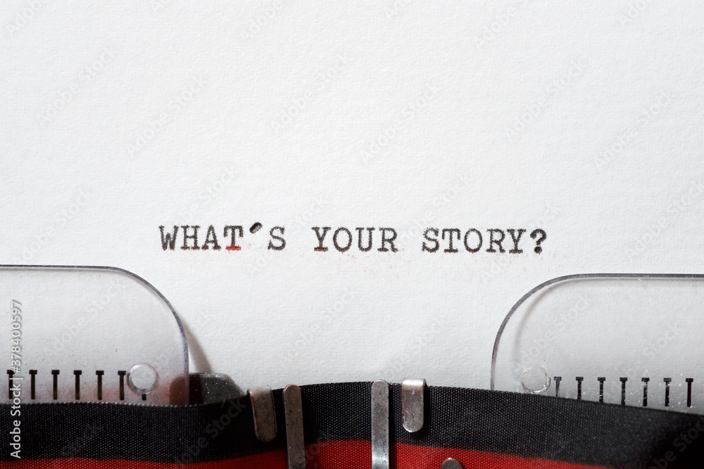 Fototapeta What`s your story question