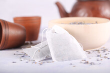 Lavender Tea Bags Lying On The...