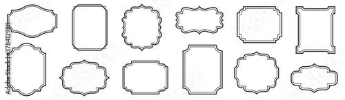 Fototapeta Vintage frames set isolated on white background. Decorative frame. Vector obraz