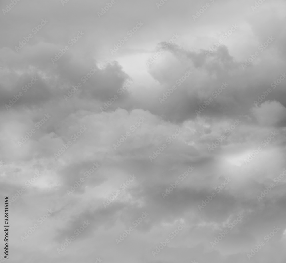 Fototapeta Grey clouds sky