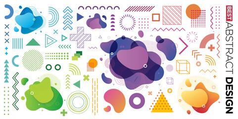 Fototapeta Boks Set of Abstract Modern Graphic Elements