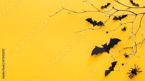 Fotografie, Obraz halloween concept with copy space