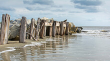 Derelict Pier Pilings At The B...