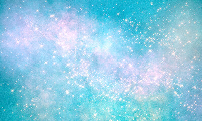 space rich multicolor bright deep impressive graphic background with many stars. blue light shades. Universal blank backdrop for decor