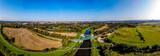 rzeka Olza z lotu ptaka w okolicy Karwiny, Czechy
